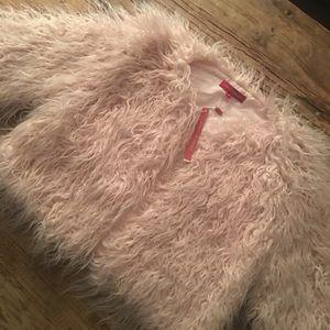 n:philanthropy cropped faux fur jacket - NWT - S